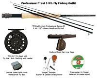 Professional 5 Wt. Trout Fly Fishing Outfit with TFO NXT Spooled Reel